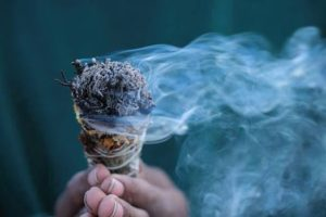Sage used for smudging ceremony