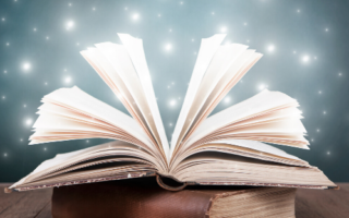 a book with magical stars