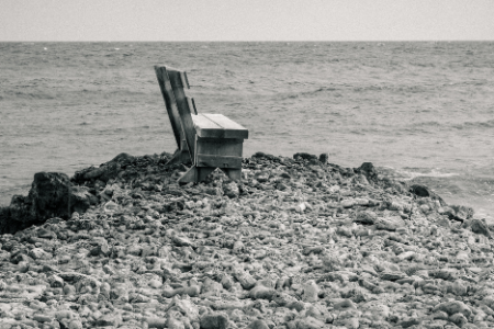 a solitary bench
